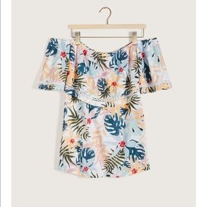 PENNINGTONS | 5X | Hawaiian Print Bardot Swing Top